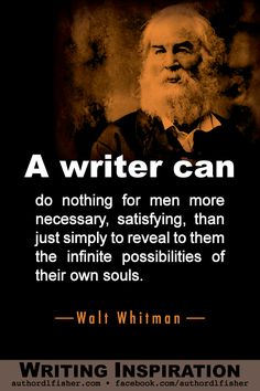 Walt Whitman's Writing Advice