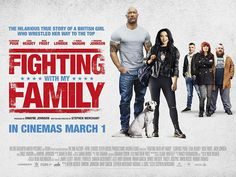 Nick Frost, Lena Headey, Dwayne Johnson, Jack Lowden, and Florence Pugh in Fighting with My Family Lena Headey, Nick Frost, Avengers Film, Vince Vaughn, Film Streaming Vf, Florence Pugh, Dwayne The Rock, Sundance Film, Lucha Libre