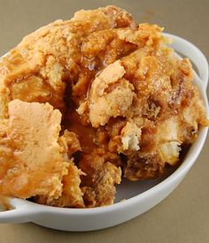 Pumpkin Cheesecake Bread Pudding