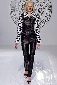 Black Leather Trouser Suit - http://smartcasualdress.co.uk/women-fashion-trends/versace-autumn-winter-2013-unleash-the-dominatrix-in-you
