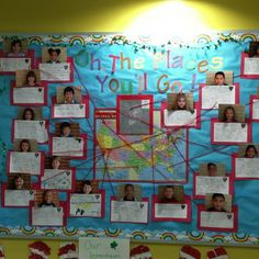Dr. Suess Inspired Bulletin Board.