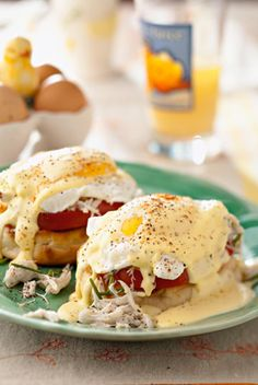 Deen Brothers Crab Cake Benedict. My favorite brunch dish ever- would love to find a decently easy recipe for making it at home.