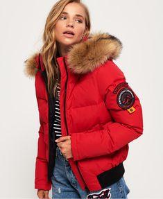 Superdry Blouson aviateur Everest Ella Rouge - Blouson Femme Superdry.  Aviateurs  Vêtements Cool · Mode  Parka Duvet ... bcf0e54e3188
