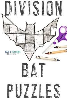 Make learning about bats fun with these DIVISION bat activities for kids. Click through to make these a part of your math centers, stations, review, enrichment, or early Bat Activities For Kids, Math For Kids, Fun Math, 5th Grade Classroom, 3rd Grade Math, Practice Math Problems, Math Crafts, Halloween Math, Maths Puzzles