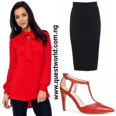 #blouse size 10 12 #6800 #skirt size 8 12 14 16 18 #6000 #shoes size 6/39 #10000 www.questworld.com.ng Nationwide HOME delivery Pay on delivery in Lagos