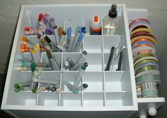 cart with dividers - perfect storage for my Copic markers