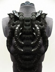 Knitted and Woven Spine Leather Harness, Cezanne Agatha Gramson
