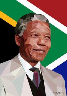 Tribute to Great Man Nelson Mandela - © 2013 eyecon [triangle art] #CelebrateMandela