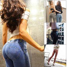84145e3f3d4  12.69 AUD - Trendy Women High Waist Ladies Leggings Jeans Skinny Pants  Denim Casual Trousers  ebay  Fashion