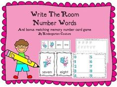 These cute little bugs by Scrappin Doodle will make writing number words fun!  This number words write the room has numbers 0 -9, a student recording sheet and a counting worksheet to count objects and write the number words as a follow up to this center.