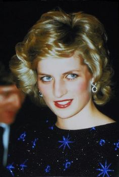 April 23, 1985: Prince Charles & Princess Diana have supper with the Mayor at the Palazzo Vecchio in Florence during their Royal Tour of Italy. Day 5