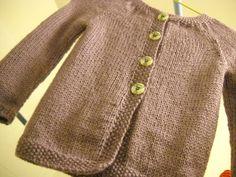 tricoter un gilet fillette 6 ans