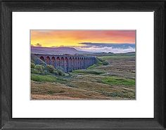Pen-y-ghent and Ribblehead Viaduct on Settle to Carlisle Railway, Yorkshire Dales National Park, North Yorkshire, England, UK as Photographic Prints, Framed and Canvas Prints from Robert Harding's World In Print