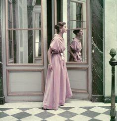 Balenciaga dress, photographed at Versailles - Photographed by Frances McLaughlin-Gill, Vogue, November 15, 1952