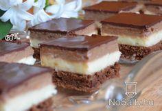 Kávékrémes kocka Hungarian Cake, Hungarian Recipes, Hungarian Food, Sweet Cookies, Cake Bars, No Bake Cake, Love Food, Food To Make, Dessert Recipes