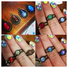 A selection of rings I made at the weekend