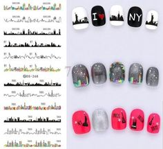 Nails Art Sticker DIY Designer Mickey Mouse Heart Nail Wraps Sticker Watermark Fingernails Decals manicure stickers[DS098]