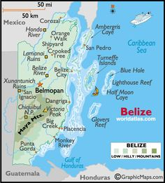 Snap shot of a map of Belize, I have visited so many of the places on here!