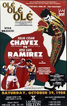JULIO CESAR CHAVEZ vs JOSE LUIS RAMIREZ Cesar Chavez, Ole Bull, Mma, Boxing Posters, Professional Boxing, World Boxing, Boxing History, Boxing Fight, Vintage Box