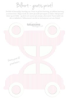 Boblebil kort gratis ROSA takkekort invitasjon dåpskort copy Kids And Parenting, Free Printables, Printer, Cricut, Symbols, Letters, Templates, Spas, Boxes