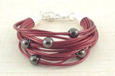 #bransoletka ze #sznurków #bracelet na DaWanda.com Bracelets, Leather, Etsy, Jewelry, Fashion, Moda, Jewlery, Jewerly, Fashion Styles