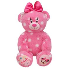 Make-Your-Own Minnie Mouse Inspired Bear from Build-A-Bear Workshop! So getting this for Miss Addison!!!!
