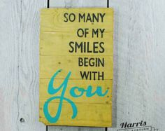 Family Pallet Sign Pallet Sign Family Wood by HarrisSignStation