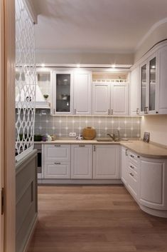 Kitchen Reno, Kitchen Cabinets, Balcony, New Homes, Living Room, Home Decor, Environment, Houses, Kitchen Maid Cabinets