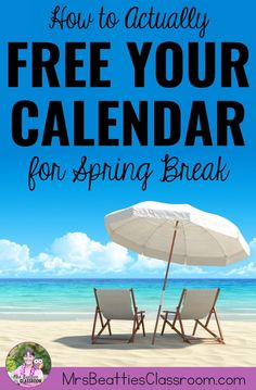 Teacher, Spring Break is a time for you to rest, recharge, and do things for yourself, not to catch up on school work. Leave school at school and truly enjoy your Spring Break with these 5 simple tips to free your calendar! Teaching Supplies, Teaching Jobs, Teacher Organization, Teacher Hacks, New Teachers, Elementary Teacher, Homework Bingo, School Frame, Getting A Massage