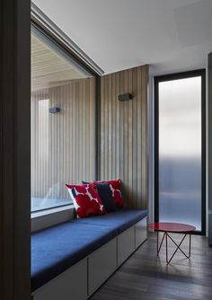 Armadale Tree House - Inarc Architects - A house and a pin oak tree Bay Window Design, Custom Windows, Construction Design, Roller Blinds, Beautiful Space, Lounge, Room Decor, Interior Design, Building
