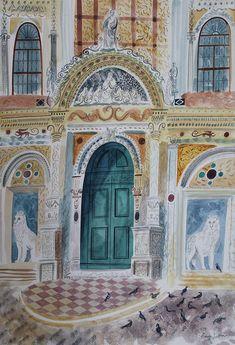 'Campo di San Paulo e Giovanni Venice' by Emily Sutton (watercolour)