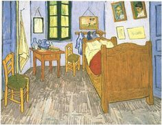 Vincent's Bedroom in Arles ~  Painting, Oil on Canvas  Saint-Rémy: September, 1889  Musée d'Orsay  Paris, France, Europe  F: 483, JH: 1793 Van Gogh Museum, Favorite Things, Amsterdam, Vincent Van Gogh, Real Life, Contemporary, Impressionist, Creepy, Felt