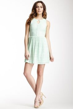 Pink Owl Eyelet Lace Sleeveless Dress by Non Specific on @HauteLook