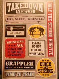 Wrestling Stickers