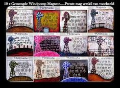 Related image Gallery Wall, Arts And Crafts, Frame, Windmills, Journals, Food, Magnets, Picture Frame, Gift Crafts