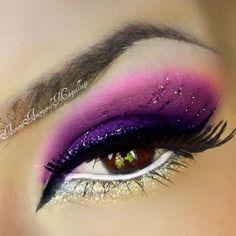 Purple, silver, glitter eyeshadow