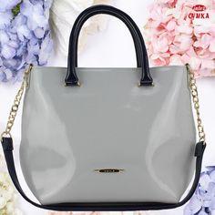 e7c59de0d637 Светло - серая лаковая женская сумочка 🇺🇦Voila 529 от украинского  производителя Wallaby, сумочка