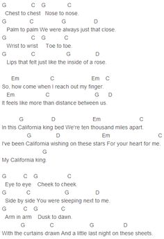 Rihanna - California King Bed Chords