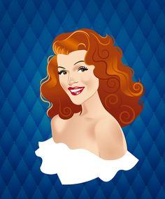 Decent Gilda by Alejandro Mogollo Díez Celebrity Caricatures, Celebrity Drawings, Illustrations, Illustration Art, Rita Hayworth Gilda, Cinema Tv, Caricature Drawing, Stuff And Thangs, Arte Pop