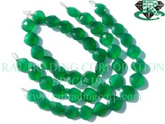 Green Onyx Faceted Cushion (Quality AAA) Shape: Cushion Faceted Length: 18 cm Weight Approx: 13 to 15 Grms. Size Approx: 11.5 to 13.5 mm Price $17.70 Each Strand Green Onyx, Cushion, Shapes, Jewelry, Jewels, Schmuck, Cushions, Jewerly, Jewelery