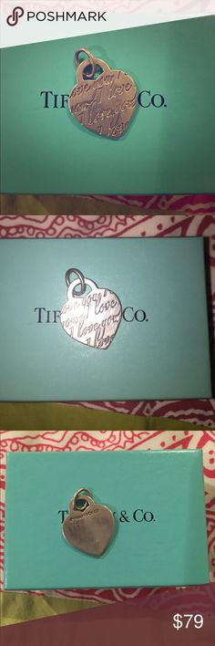 Tiffany & Co. I love you charm Tiffany & Co. I love you charm. 100% authentic. Box included, no pouch Tiffany & Co. Jewelry Necklaces