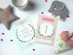 Baby- & Geburtskarten - Meilensteinkarten / Baby Meilensteine - ein Designerstück von ThePrettyPrintsShop bei DaWanda