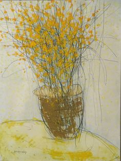 "Still Life by George Shipperley "" Forsythia "" 20x17 FOR SALE"