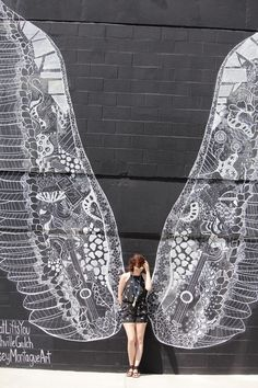 Angel Wings Mural in the Gulch (it's in the entrance of a parking garage next to Taziki's)