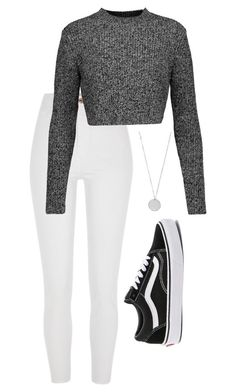 """#308"" by mintgreenb on Polyvore featuring River Island, Carven and Vans"