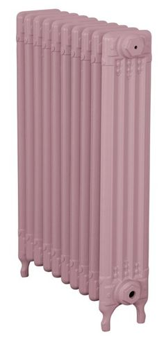 A baby pink radiator it would look just amazing in a baby girls room or a teenage bedroom. Or even a modern pink kitchen! It is a traditional style radiator in a modern colour and it works perfect. The cast iron radiators give off a great heat output but they look fantastic!!!! i think a pair of modern valves would just finish the look.