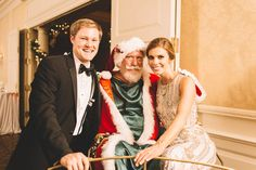 Winter wedding idea - Santa Clause made a special appearance at the reception {Christopher Bell Photography, LLC}