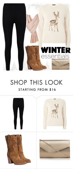 """""""Reindeer Sweater"""" by pink1princess ❤ liked on Polyvore featuring Boohoo, Dorothy Perkins, Casadei and Free People"""