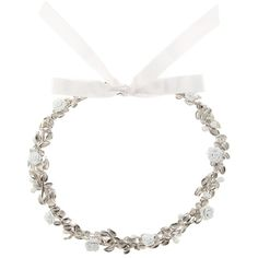 Givenchy Flower Necklace ($1,725) ❤ liked on Polyvore featuring jewelry, necklaces, silver, blossom jewelry, flower necklace, givenchy, silver necklace and silver jewelry