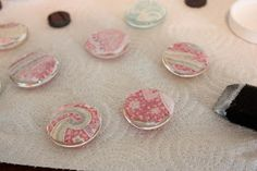 Mr. & Mrs. Phillips: Glass Fabric Magnets